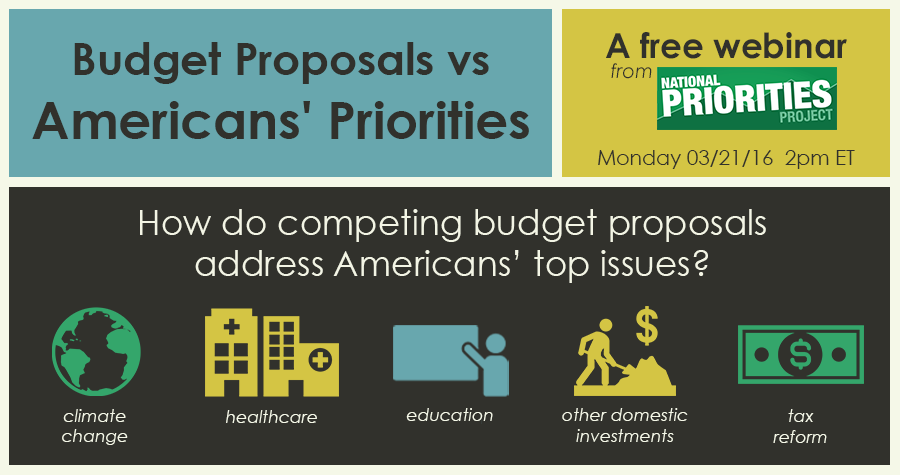 Webinar: 2017 Budget Proposals vs Americans' Priorities