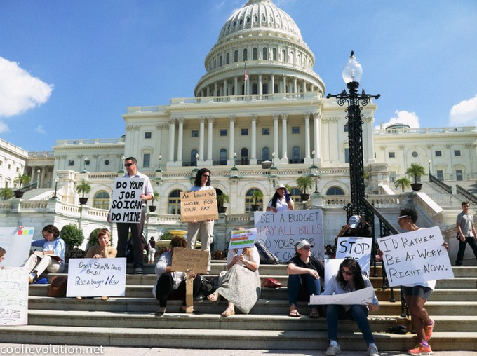 Shutdown Protesters Capital