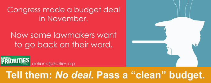 Honor the Deal - Clean Budget